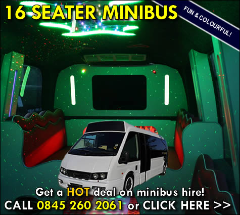 Cardiff and Bristol airport minibus - white 16 seater
